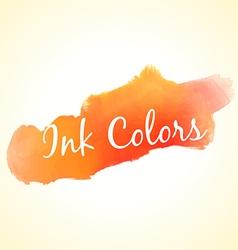 orange ink colors vector image