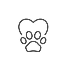 pet care line outline icon vector image