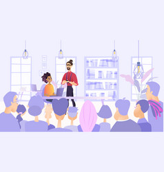 Planned meeting employees company vector