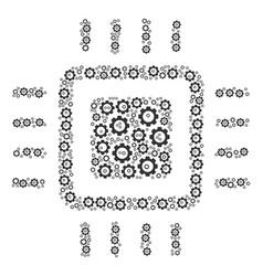 processor collage of cog vector image