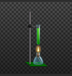 realistic chemical laboratory equipment vector image