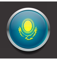 Round flag of Kazakhstan vector image