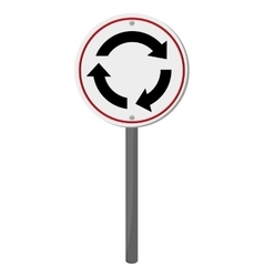 Roundabout traffic sign icon vector