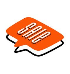 sale banner speech bubble various shapes vector image