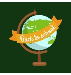 School globe back to concept vector image