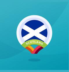 Scotland flag map location pin european football vector