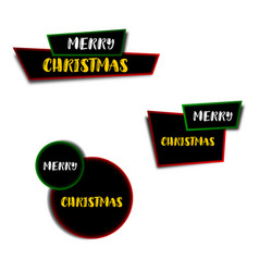 set of christmas banners christmas ribbons and vector image