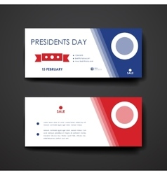 Set of modern design banner template in Presidents vector