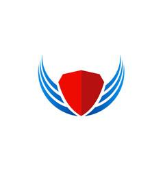 Shield wing protect logo vector