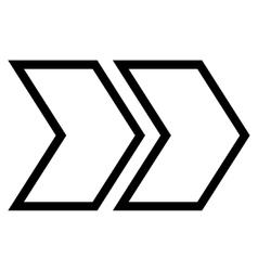Shift Right Contour Icon vector