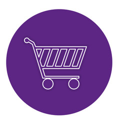 Shopping cart isolated icon vector