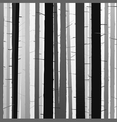 silhouettes trees shadow tree forest detailed vector image