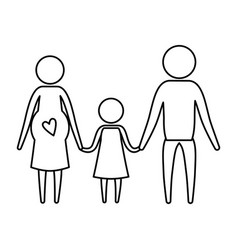 sketch silhouette of pictogram parents with mother vector image
