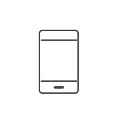 smartphone gadget technology icon line design vector image