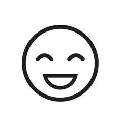 smile icon stock flat design vector image