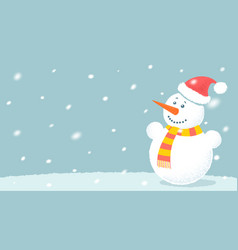 snowman for christmas and new year vector image