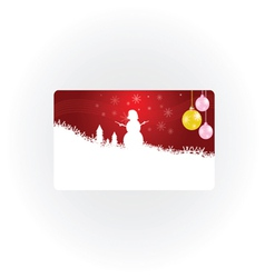 Snowman new 2013 year part one vector