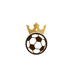 soccer king logo icon design vector image
