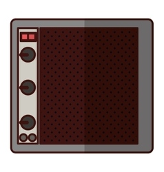 Speaker with knobs icon image vector