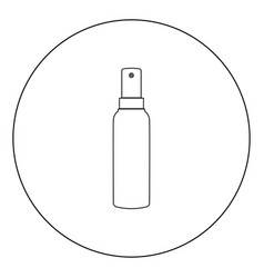 Spray icon black color in circle vector