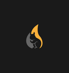 Squirrel abstract logo vector