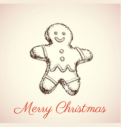 the gingerbread man vector image