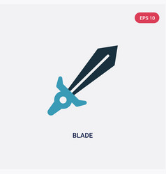 Two color blade icon from weapons concept vector