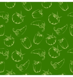 Vegetable pattern - green vector