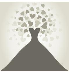 Wedding dress2 vector image vector image