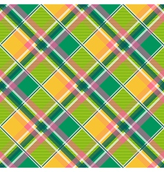 Yellow Green Pink Diamond Chessboard Background vector image