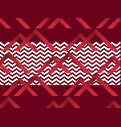 zigzag seamless pattern with gradient red color vector image