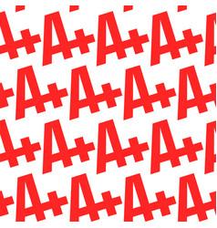a grade text graphic vector image