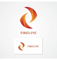 Abstract fire logo vector image