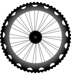 bike wheel black silhouette vector image