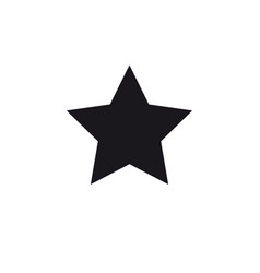 Black star symbol vector