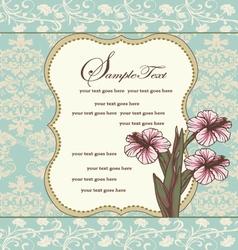 damask floral invitation card vector image vector image