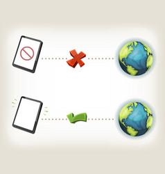 internet connexion icons vector image