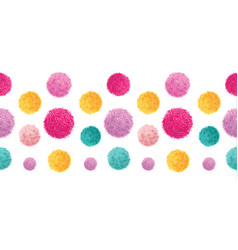 pink yellow colorful birthday party pom vector image vector image