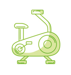 Silhouette bike machine to do exercise and healthy vector