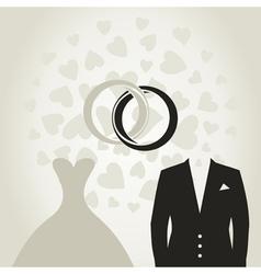 Wedding dress3 vector image