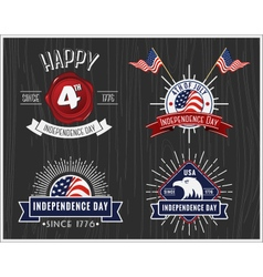 American Independence Day Badge Collection vector image vector image