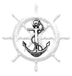 Anchor Hand drawn 2 vector image vector image