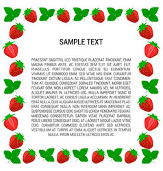 berry strawberry frame with text vector image