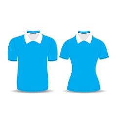 blue polo shirt outline vector image