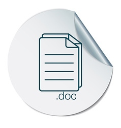document icon paper sheet vector image