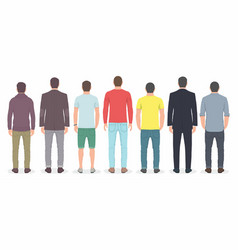 group of men from back vector image