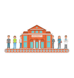 higher education concept in vector image vector image