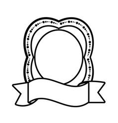 label ribbon decoration empty icon vector image vector image