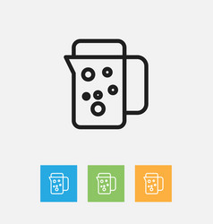 Of meal symbol on thermos vector