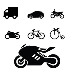 Set of Vehicles icon vector image vector image